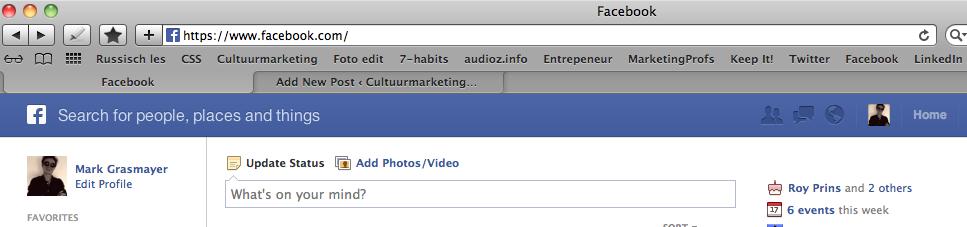 Facebook Promotie voorbeeld